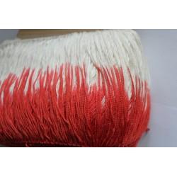 Biało(ecru)-czerwone 17cm