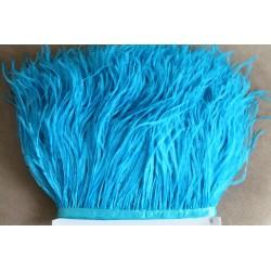 Pióra strusie frędzle błękit