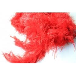 Pióra strusie Boa czerwone