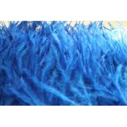 Pióra strusie frędzle chabrowy