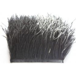 Pióra strusie frędzle czarne