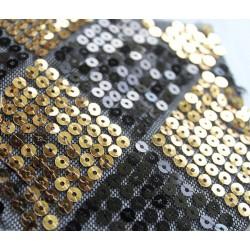 Złoto-czarne romby